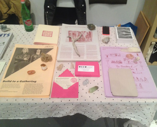 Our table at LAABF 2014 - Photo by Sarah Williams