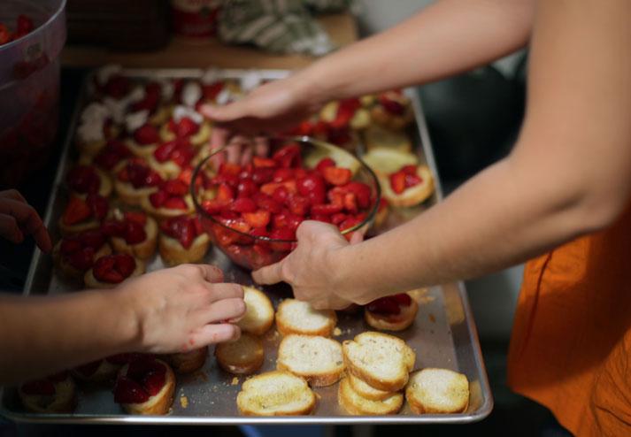 Honey-macerated strawberrys