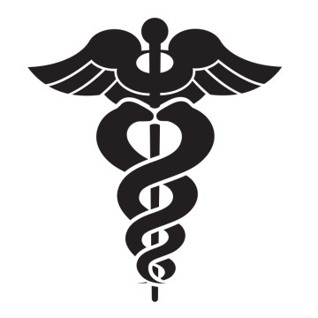 Vector illustration of a black medical symbol
